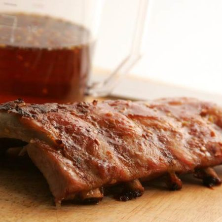 Maple And Orange Glazed Ribs